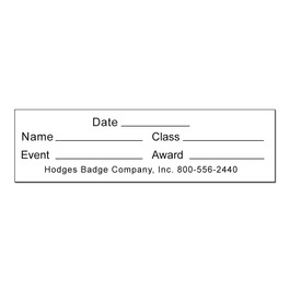 Rectangular Stick-on Swimming Record Card for Neck Ribbons