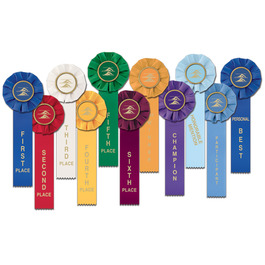 Stock Swim Rosette Award Ribbon