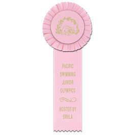 Little Rose Swim Rosette Award Ribbon