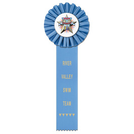 Ideal 1 Swim Rosette Award Ribbon