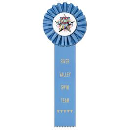 Ideal 1 Swim Rosette Award Ribbon