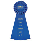 Ideal Swim Rosette Award Ribbon