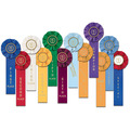 Stock Torch Swimming Rosette Award Ribbon