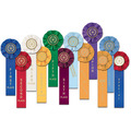 Stock Star Swimming Rosette Award Ribbon