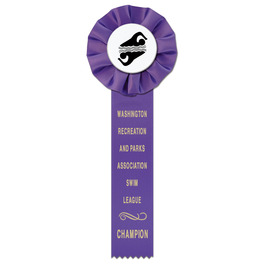 Empire 1 Swim Rosette Award Ribbon