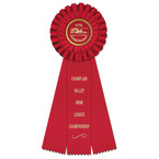 Luxury Swim Rosette Award Ribbon