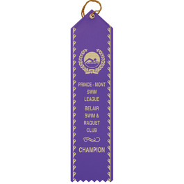 Point Top Award Ribbon w/ Border