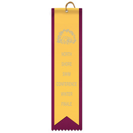 2 Layered Square Top Award Ribbon