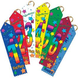 Stock Place Swimming Award Ribbon