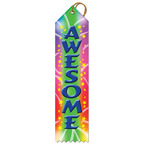 Stock Awesome Swimming Award Ribbon