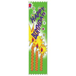 Happy Birthday Swimming Award Ribbon