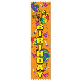 It's My Birthday Swimming Award Ribbon