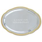 Scalloped Oval Swimming Award Tray w/ Gold Border