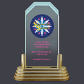 Pop-In™ Jade Acrylic Swimming Award Trophy w/ Pedestal Base