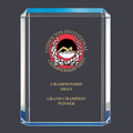 Blue Shimmer Acrylic Swimming Award Trophy