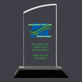 Swatch Acrylic Swimming Award Trophy