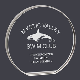 Round Acrylic Swimming Award Trophy