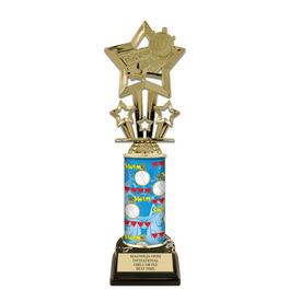 "10"" Black HS Base Swimming Award Trophy"