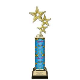 "12"" Black HS Base  Swimming Award Trophy"