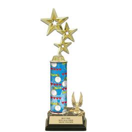 "12"" Black HS Base Swimming Award Trophy w/ Trim"