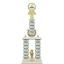 "20"" Design Your Own Swimming Award Trophy w/ Wreath & Trim"