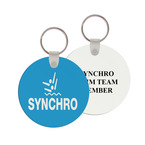 Round Swim Keychain w/ Print on Back