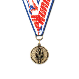 CX Track & Field Award Medal w/ Any Grosgrain Neck Ribbon