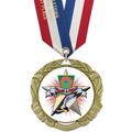 XBX Track & Field Award Medal w/ Any Satin Neck Ribbon