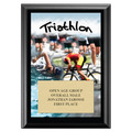 Triathlon Black Wood Plaque