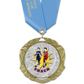 XBX Track & Field Award Medal w/ Any Satin Neck Ribbon
