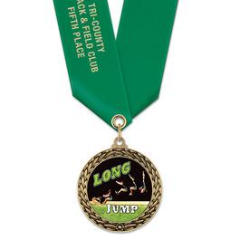 LFL Track & Field Award Medal w/ Satin Neck Ribbon