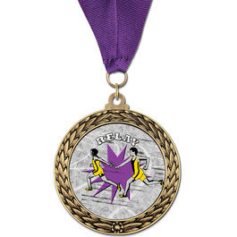 GFL Track & Field Award Medal w/ Grosgrain Neck Ribbon