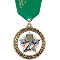 GFL Track & Field Award Medal w/ Satin Neck Ribbon