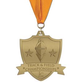 HH Track & Field Award Medal w/ Grosgrain Neck Ribbon