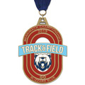HE Track & Field Award Medal w/ Grosgrain Neck Ribbon