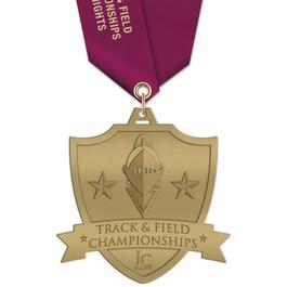 HH Track & Field Award Medal w/ Satin Neck Ribbon