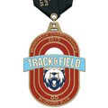 HE Track & Field Award Medal w/ Satin Neck Ribbon