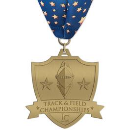 HH Track & Field Award Medal w/ Millennium Neck Ribbon