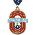 HE Track & Field Award Medal w/ Millennium Neck Ribbon