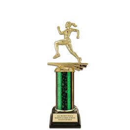 "10"" Black HS Base Track & Field Award Trophy"