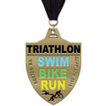 HE Triathlon and Biathlon Award Medal w/ Grosgrain Neck Ribbon