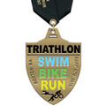 HE Triathlon and Biathlon Award Medal w/ Satin Neck Ribbon