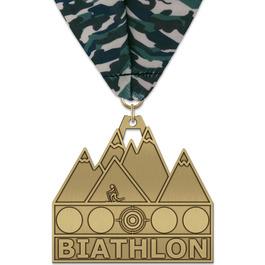 HH Triathlon and Biathlon Award Medal w/ Millennium Neck Ribbon