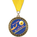 GFL Volleyball Award Medal w/ Grosgrain Neck Ribbon