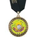GFL Volleyball Award Medal w/ Satin Neck Ribbon