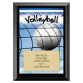 Volleyball Black Wood Plaque