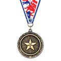 LX Wrestling Award Medal w/ Any Grosgrain Neck Ribbon