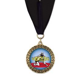 LFL Wrestling Award Medal w/ Grosgrain Neck Ribbon