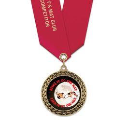 LFL Wrestling Award Medal w/ Satin Neck Ribbon