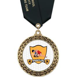 GFL Wrestling Award Medal w/ Satin Neck Ribbon